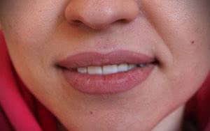 фото татуажа губ в технике контур